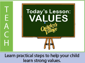 Learn practical steps to teach your child values image.